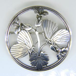 Georg Jensen silver butterfly brooch no 283.