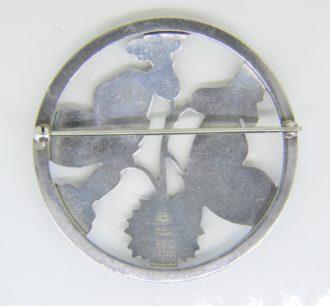 Georg Jensen silver butterfly brooch no 283.