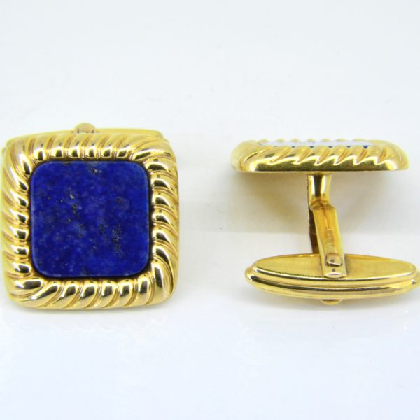 Lapis lazuli cuff links