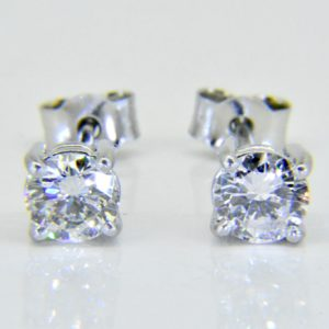 diamond ear studs 1.2cts