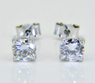 diamond ear studs 1.2cts