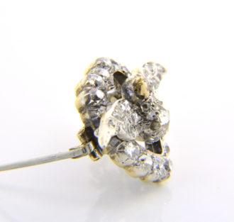 victorian diamond heart dove brooch