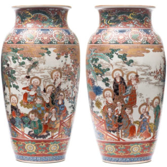 kutani large vases 45.5cm