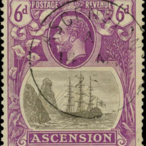 Ascension Island 6d stamp