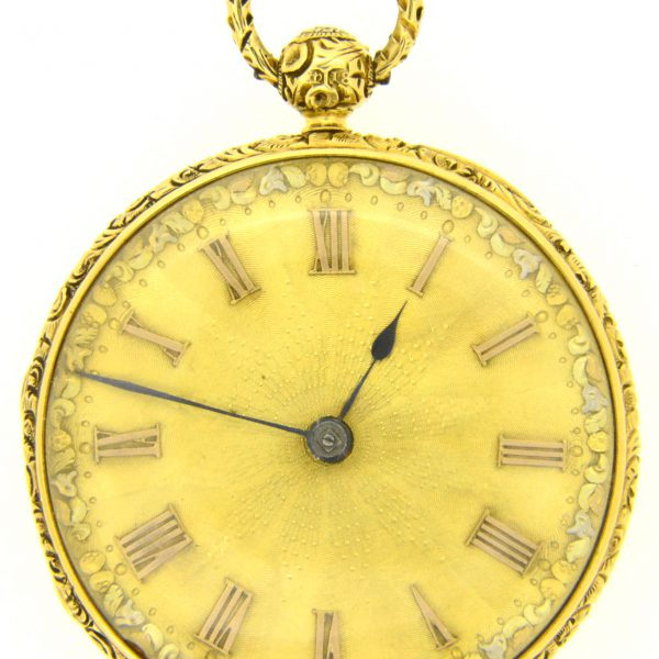 Victorian gold pocket watch