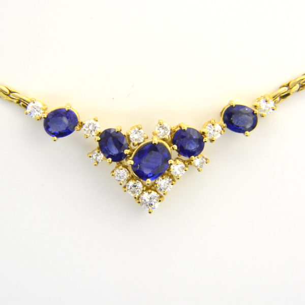18ct sapphire diamond necklace