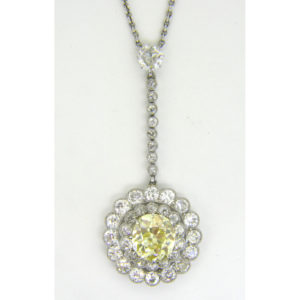 yellow diamond pendant 2.97cts